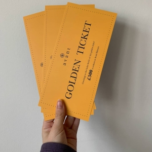 Are you desperate to get your hands on one of our Golden Tickets?⭐  Who would you treat to a little something if you were to find one?